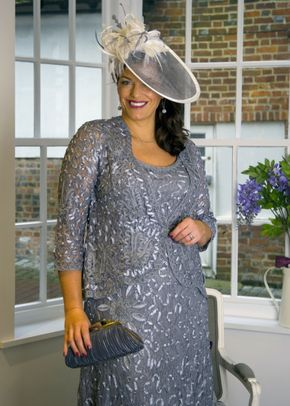 Silver Grey Cornelli Dress and Jacket, 1123