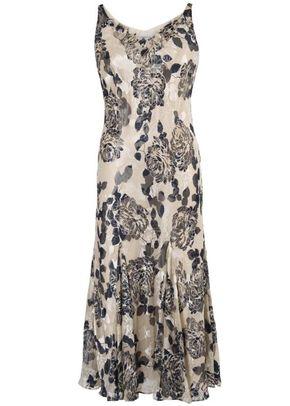 Vanilla & Navy Floral Devoree Dress, 1123