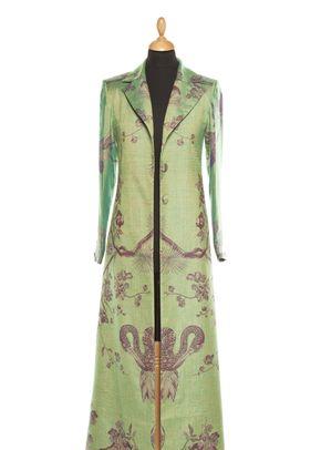 Cashmere Coat Women Aquila Dragonfly Green, Shibumi