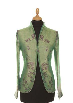 Cashmere Jacket Women Anya Dragonfly Green, Shibumi