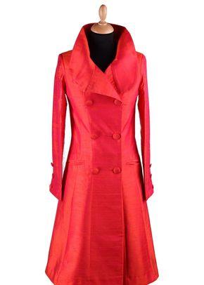 Silk Coat Women Delphine Flame, Shibumi