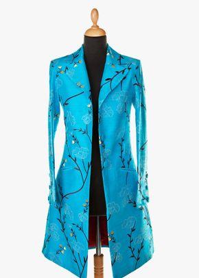 Silk Coat Women Grace Brilliant Turquoise, 1191