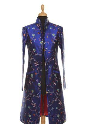 Silk Coat Women Nehru African Cobalt, Shibumi