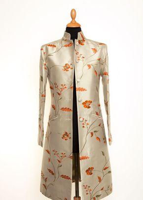 Silk Coat Women Nehru Soft Pistachio, 1191