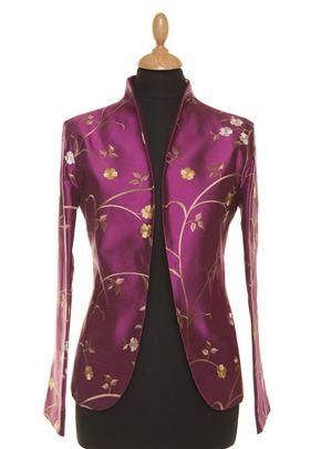 Silk Jacket Women Anya Hot Magenta, 1191