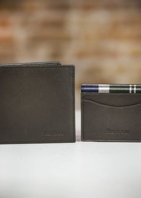 Barbour Leather Wallet/Card Gift Set, 1307