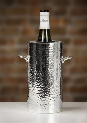 Culinary Concepts 'Let's Get Hammered' Silver-Plated Palace Bottle Holder - Tall, 1307