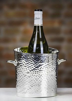 Culinary Concepts 'Let's Get Hammered' Silver-Plated Palace Wine Cooler, 1307