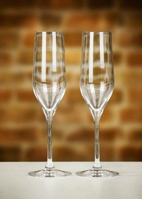 Dartington Pair of Crystal Champagne Flutes, 1307