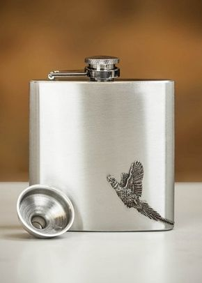 English Pewter Co. Country Living Pheasant Pewter Hip Flask - 6oz, 1307