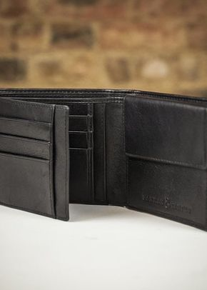Farrar & Tanner Deluxe Nappa Leather Fold Out Wallet - Black, 1307