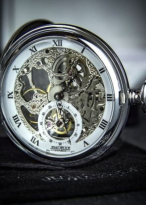 Jean Pierre Double Hunter Skeleton Exposed Face Pocket Watch, 1307