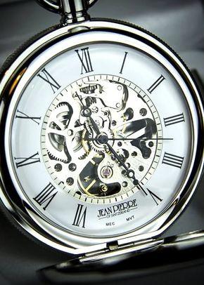 Jean Pierre Double Hunter Skeleton Pocket Watch, 1307