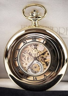 Jean Pierre Skeleton Half Hunter Pocket Watch - Gold Plated, 1307