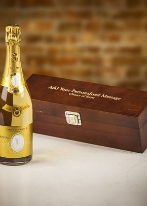 Louis Roederer Cristal Brut Champagne in Personalised Premium Wood Gift Box, 1307