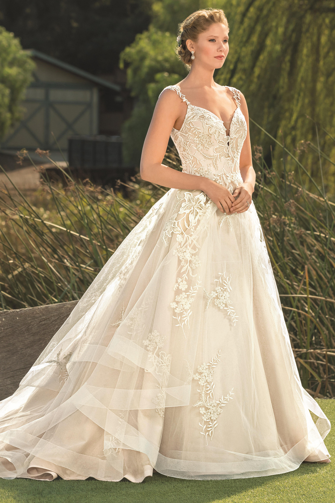 Silk Fit And Flare Wedding Dress With Halter And