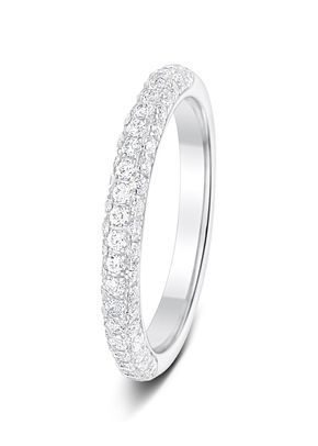 2.5mm 0.50 4 Claw Pave Set Round Cut Diamonds Polished Half Eternity Ring, Aurus