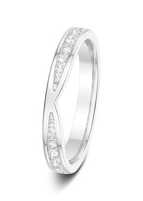 3.0mm 0.26ct Channel Set Diamond Eternity Wedding Ring, Aurus