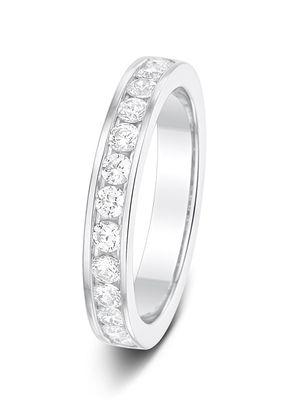 3.2 0.50ct Channel Set Half Eternity Diamond Wedding Ring, 1095
