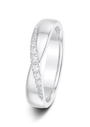 4.5mm 0.11ct Claw Set Diamond Eternity Wedding Ring, Aurus