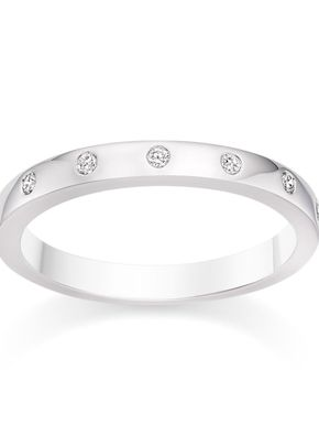 D Shaped Diamond Wedding Ring in Platinum, Diamond Manufacturers