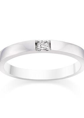 Diamond Wedding Ring 18k White Gold, 1093
