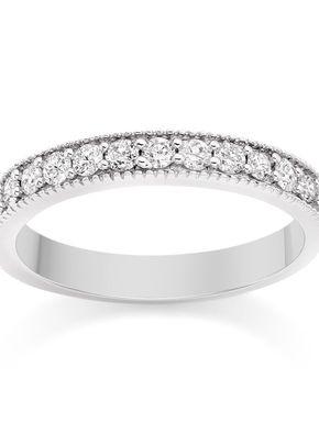 Milgrain Diamond Wedding Ring in Platinum, 1093