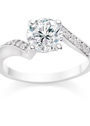 Round Cut 0.57 Carat Side Stones Engagement Ring Platinum, 1093
