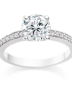 Round Cut 0.59 Carat Side Stones Engagement Ring in 18k White Gold 2, Diamond Manufacturers