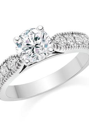Round Cut 0.87 Carat Side Stones Engagement Ring in Platinum, 1093