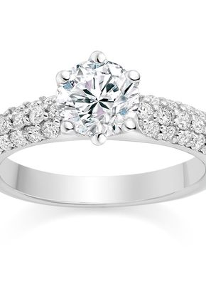 Round Cut 0.95 Carat Engagement Ring with Side Stones in Platinum, Diamond Manufacturers