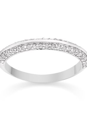 Two Sided Pave Set Diamond Wedding Ring 18k White Gold, Diamond Manufacturers