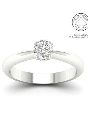 18ct White Gold & Platinum 0.50ct Diamond Solitaire Ring, 1303