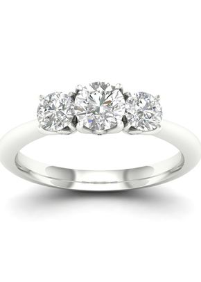 18ct White Gold & Platinum 0.75ct Total Diamond 3 Stone, 1303