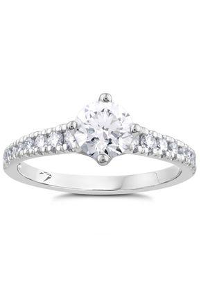 Arctic Light Platinum 1ct Total Solitaire Diamond Ring, 1303