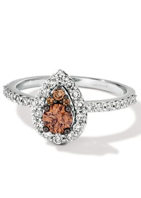 Le Vian 14ct Vanilla Gold 0.80ct Diamond Pear Cluster Ring, Ernest Jones