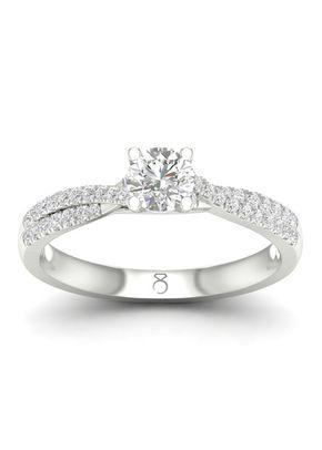 The Diamond Story Platinum 0.50ct Total Diamond Ring, 1303
