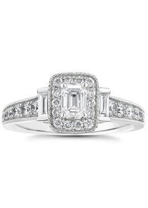 Vera Wang 18ct White Gold 0.95ct Total Diamond Ring, 1303
