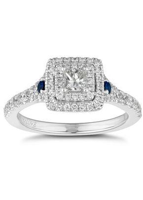 Vera Wang 18ct White Gold Sapphire & 0.70ct Diamond Ring, 1303