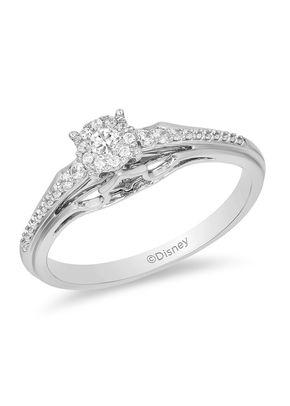 Enchanted Disney Fine Jewelry 0.20ct Diamond Aurora Ring, 1305