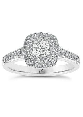 The Diamond Story 18ct White Gold 0.50ct Total Diamond Ring, 1305