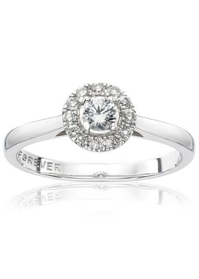 The Forever Diamond 18ct White Gold 0.25ct Total Ring, 1305