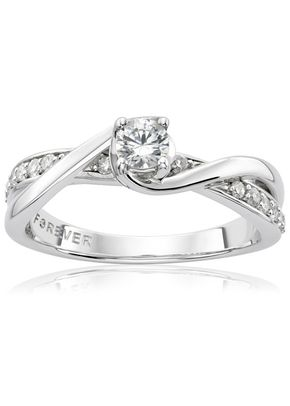 The Forever Diamond 18ct White Gold 0.33ct Total Ring, 1305