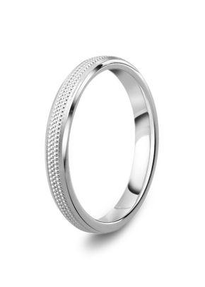 Diamond Cut 3mm Wedding Ring, Milgrain Pattern, House of Diamonds
