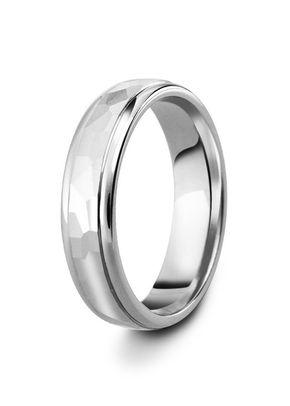 Diamond Cut Hammered Style Decorative Wedding Ring, 5mm Band, House of Diamonds
