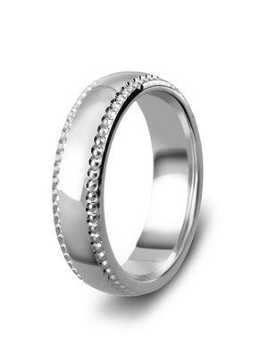 Diamond Cut Heavy Grain Wedding Ring, 5mm Band, House of Diamonds