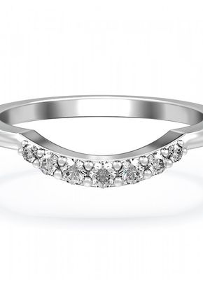 Diamond Set Curved Wedding Ring in Platinum 950, House of Diamonds