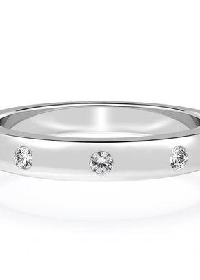 Diamond Set Wedding Ring in 18ct White Gold, House of Diamonds