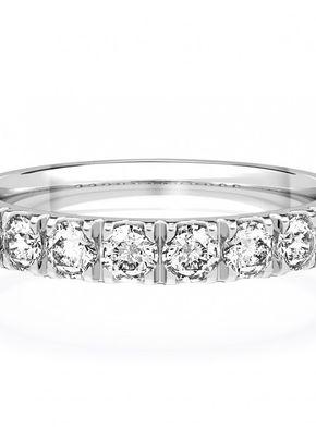 Diamond Set Wedding Ring in 18ct White Gold 3mm, 1209
