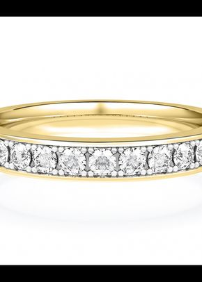 Diamond Set Wedding Ring in 18ct Yellow Gold, House of Diamonds